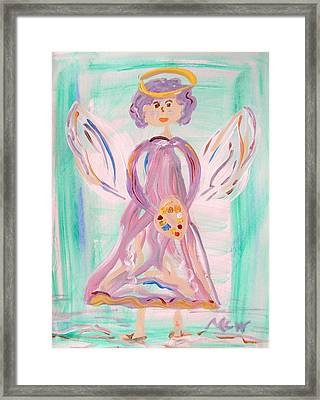 An Angel Of Vision Framed Print by Mary Carol Williams