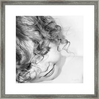 An Angels Smile - Black And White Framed Print