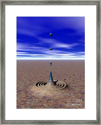 An Anomaly In Time Framed Print by Walter Neal