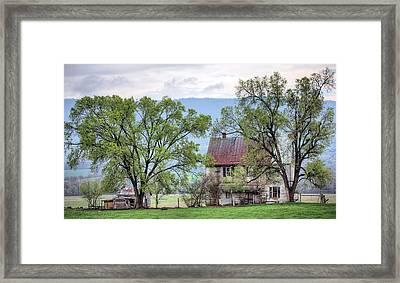 An Appalachian Homestead Framed Print by JC Findley