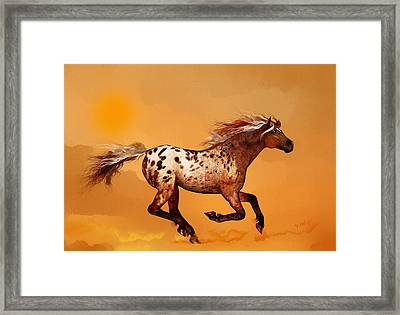 Framed Print featuring the painting An Appaloosa Called Ginger by Valerie Anne Kelly