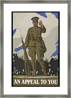 An Appeal To You Framed Print by War Is Hell Store