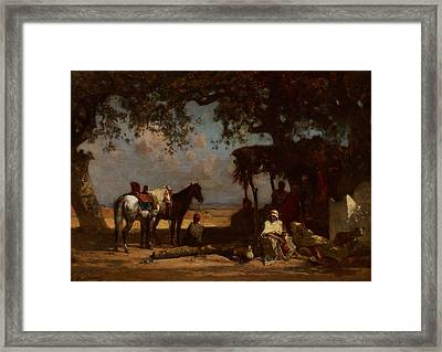 An Arab Encampment Framed Print by Gustave Guillaumet