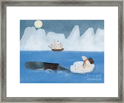 Framed Print featuring the painting An Arctic Adventure by Bri B