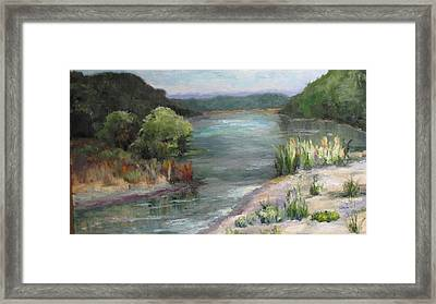 An Arkansas River Sandbar Framed Print