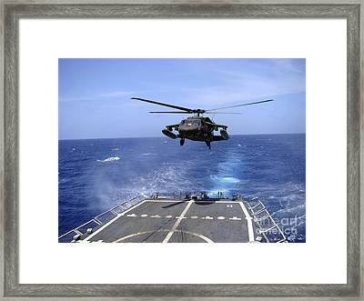 An Army Uh-60 Black Hawk Helicopter Framed Print