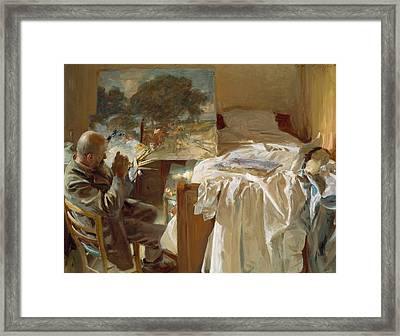 An Artist In His Studio Framed Print by John Singer Sargent