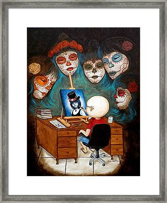 Framed Print featuring the painting An Artist Inspired by Al  Molina