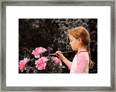 An Artistic Touch Framed Print