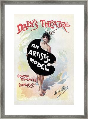 An Artist's Model Daly's Theatre London Framed Print by Heidi De Leeuw