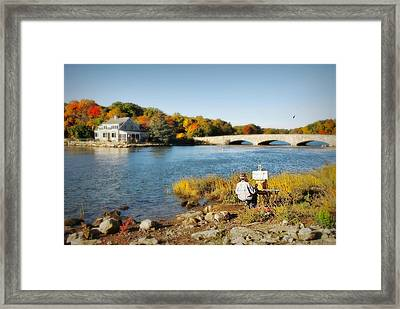 An Artist's Rendering Framed Print by Diana Angstadt