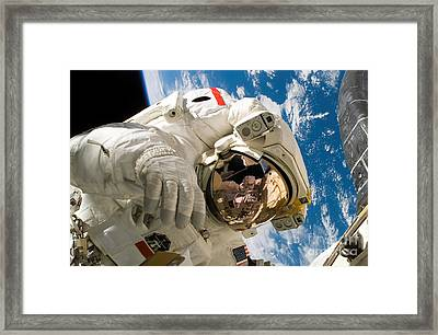 An Astronaut Mission Specialist Framed Print by Stocktrek Images