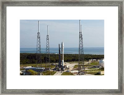 An Atlas V-551 Launch Vehicle At Cape Framed Print by Stocktrek Images
