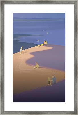 An Atmosphere Of Serenity On The Dune Framed Print