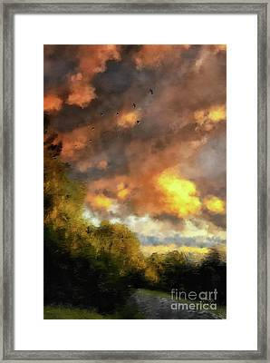 An August Sunset Framed Print