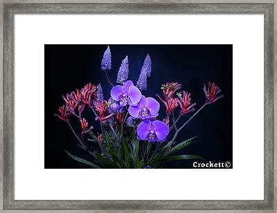 An Aussie Flower Arrangement Framed Print