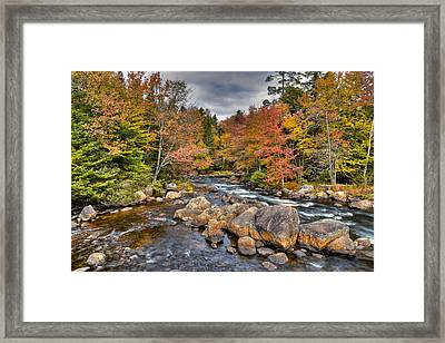 An Autumn Afternoon On The Moose River Framed Print by David Patterson