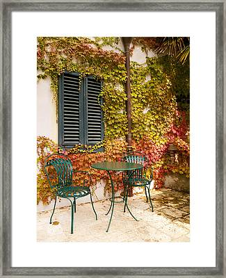 An Autumn Corner Framed Print by Rae Tucker
