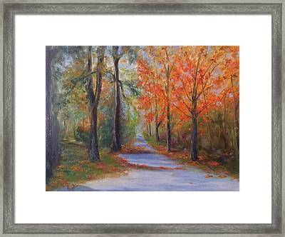 An Autumn Drive Framed Print