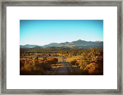 An Autumn Evening In Pagosa Meadows Framed Print