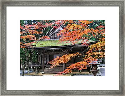 An Autumn In The Temple Framed Print
