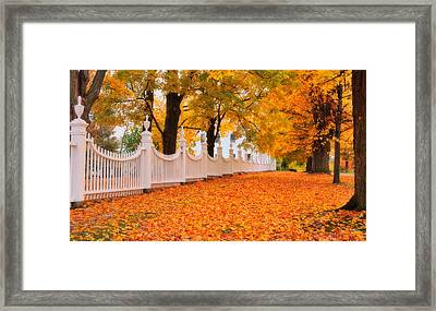 An Autumn Stroll - West Bennington Vermont Framed Print by Expressive Landscapes Fine Art Photography by Thom