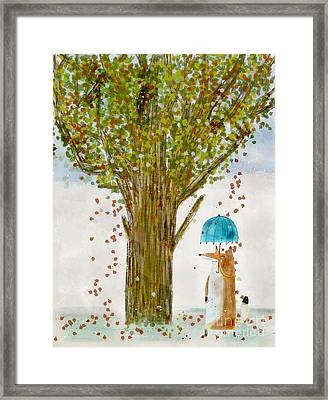 Framed Print featuring the painting An Autumns Day by Bri B