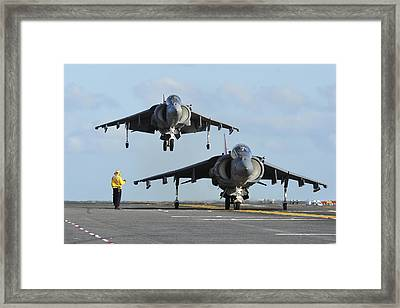 An Av-8b Harrier Prepares For Takeoff Framed Print by Stocktrek Images