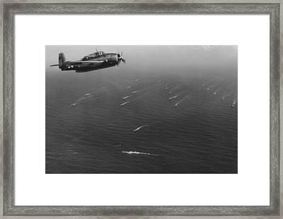 An Avenger Aircraft On Patrol  Framed Print by American School