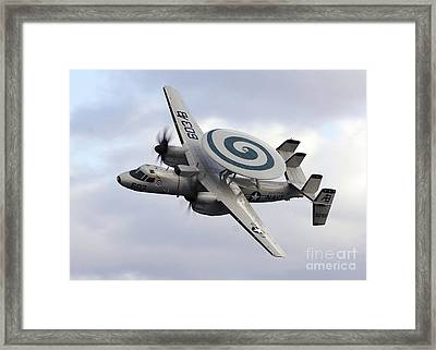 An E-2c Hawkeye Performs A Fly-by Framed Print by Stocktrek Images