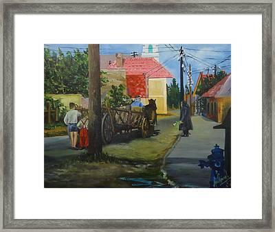 An Eastern European Village Framed Print by Anil Singh