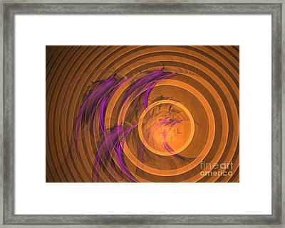 An Echo From The Past - Abstract Art Framed Print by Sipo Liimatainen