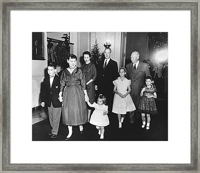 An Eisenhower Christmas Framed Print by Underwood Archives