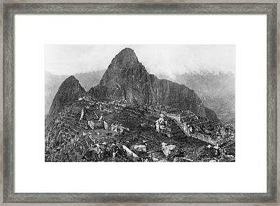 An Elevated View Of About Half Framed Print by Hiram Bingham