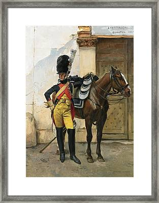 An Elite Soldier Of The Imperial Guard Framed Print