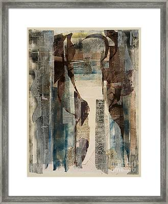 An Empty Doorway And A Maple Leaf-macleish Framed Print