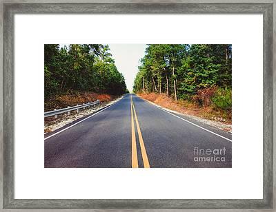 An Empty Road Framed Print