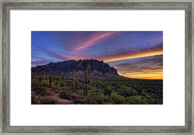 An Enchanting Evening In The Superstitions  Framed Print