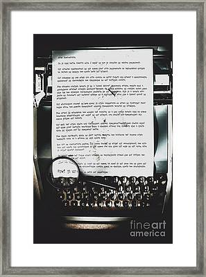 An Encryption To Break The Oppression Framed Print by Jorgo Photography - Wall Art Gallery