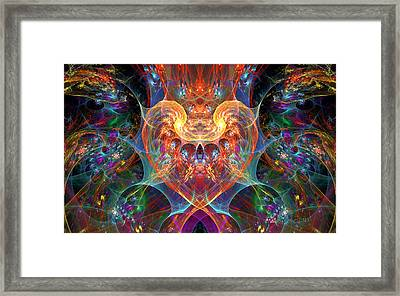 An Energetic Heart Framed Print by Peggi Wolfe