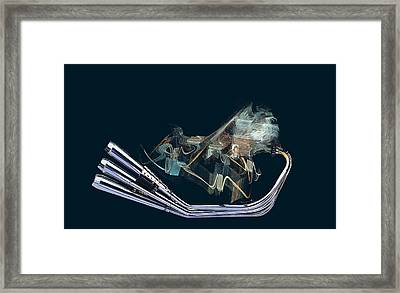 An Engine. Motorcycle Engine Framed Print