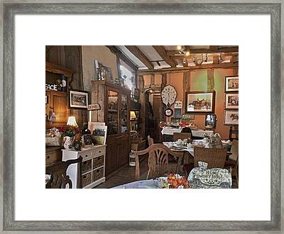 An English Tea Room Framed Print by Nick Eagles