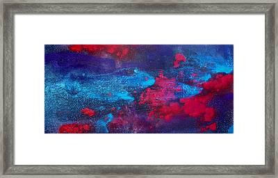 An Eruption Of Red Framed Print