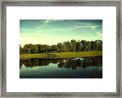 An Evening At Broemmelsiek Park Framed Print by Bill Tiepelman