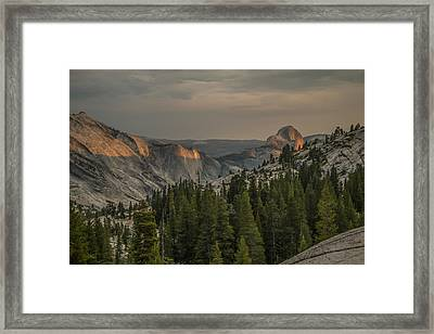 An Evening At Olmstead Point - Pt 3 Framed Print