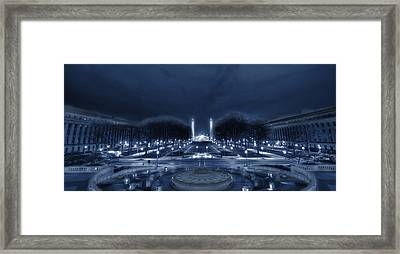An Evening At The Capitol Framed Print