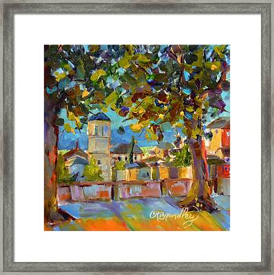 An Evening In Assisi Framed Print