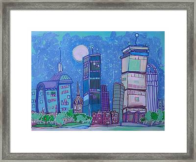 An Evening In Boston Framed Print by Jess Lawrence