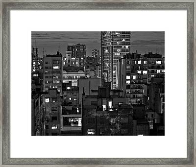An Evening In Buenos Aires Framed Print
