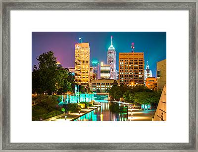 An Evening In Indianapolis Framed Print